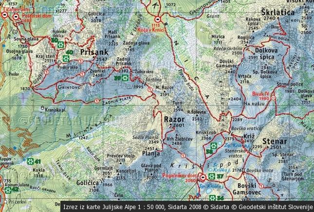 Razor (2601 m), Lešarjeva peč