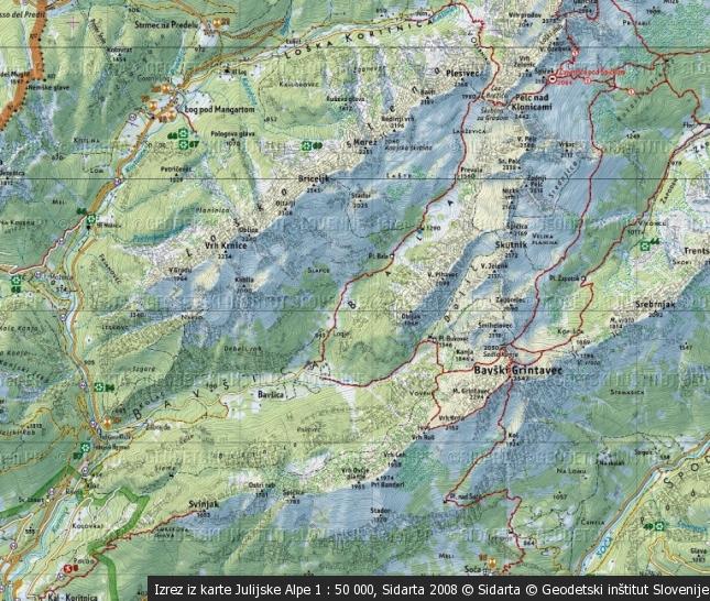 Greben Pelcev in ostalih vrhov do sedla Kanja