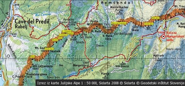 Vršič 1918 m (Predelski) – Ursic di Raibl/Raibler Confinspitze